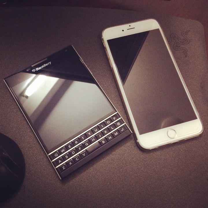 Black Berry Passport vs iP6 Plus