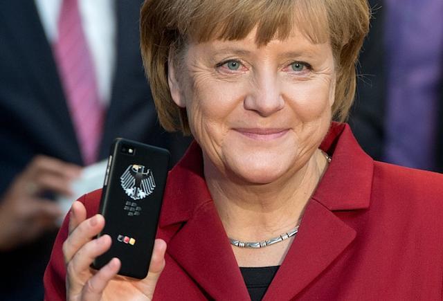 BlackBerry-German Chancellor Angela Merkel